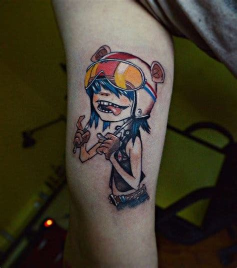 gorillaz tattoo murdoc pictures to pin on pinterest