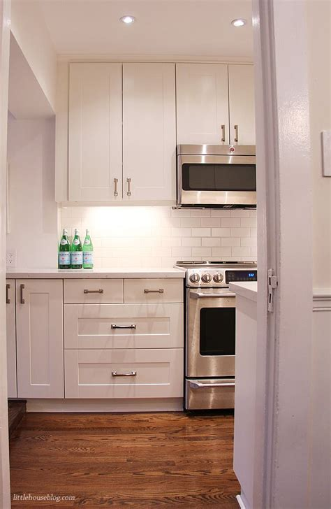 Ikea Off White Kitchen Cabinets | cabinets white subway tiles and house on pinterest