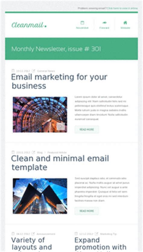 mobile friendly email template email newsletter templates mobile friendly exles