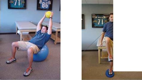 bilateral stance  unstable surface sports medicine