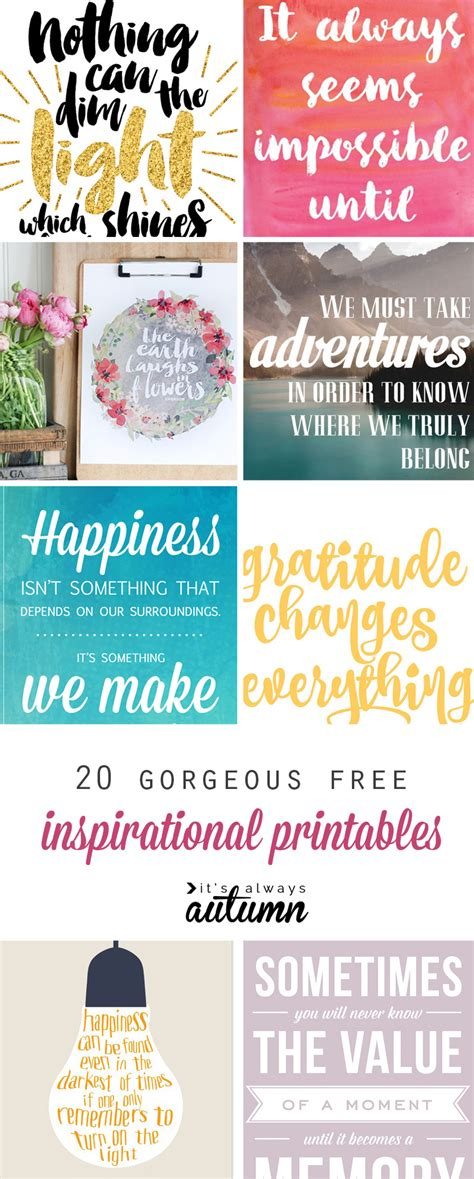 printable art diy 20 gorgeous modern free inspirational quote printables