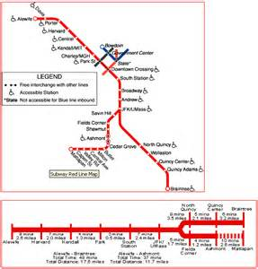 Red Line Boston Map by The Sf Muni Map Project