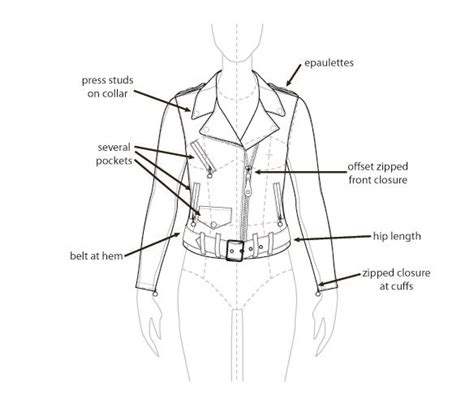fashion technical drawing template jacket google search