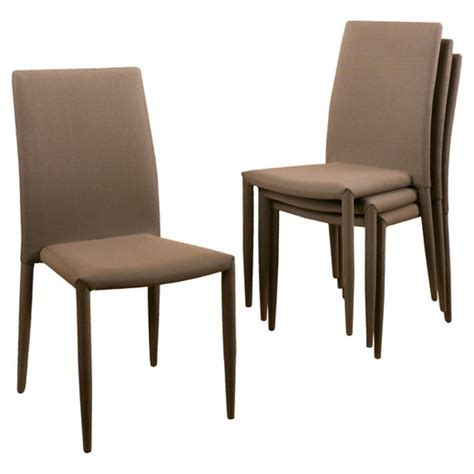Stackable Dining Room Chairs Comstock Fabric Stackable Dining Chair Multi Brown Set