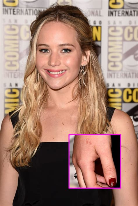 jennifer lawrence tattoo talks epic fail during comic