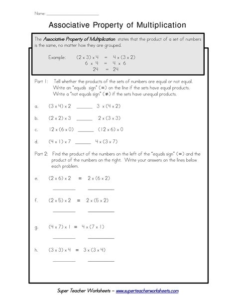 free printable worksheets distributive property multiplication 12 best images of distributive property worksheets print