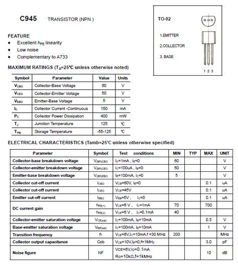 ss   npn transistor datasheets