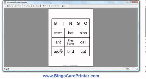 3x3 Bingo Card