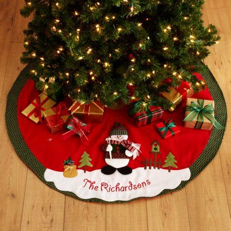 personalized snow cap tree skirt walmart