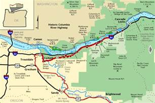 columbia river oregon map historic columbia river highway west section america s