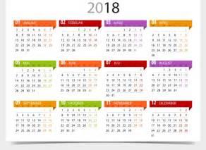 Calendario Anual 2018 Calendario 2018 Para Imprimir Anual Mensual Escolar
