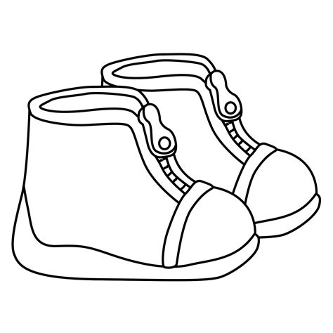 Free Coloring Pages Of Shoes Shoe Coloring Pages
