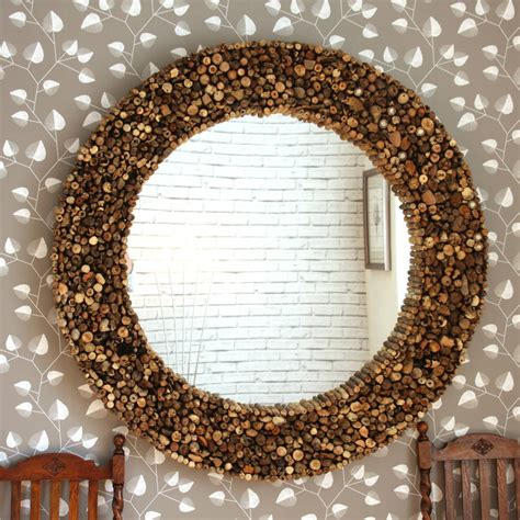 designer mirrors large driftwood mirror by decorative mirrors notonthehighstreet