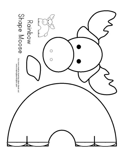 Moose Template Crafts Template Patterns Pinterest Moose Cut Out Template
