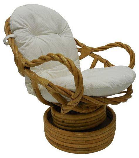 Vintage Bamboo Rattan Swivel Rocking Chair Swivel Rattan Chair