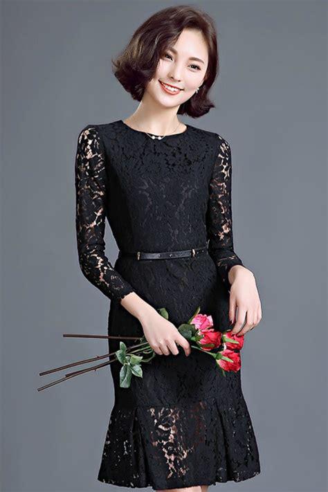 Dress Rj Story Black Import Cantik Transparan dress cantik korea asli rj story baju import korea