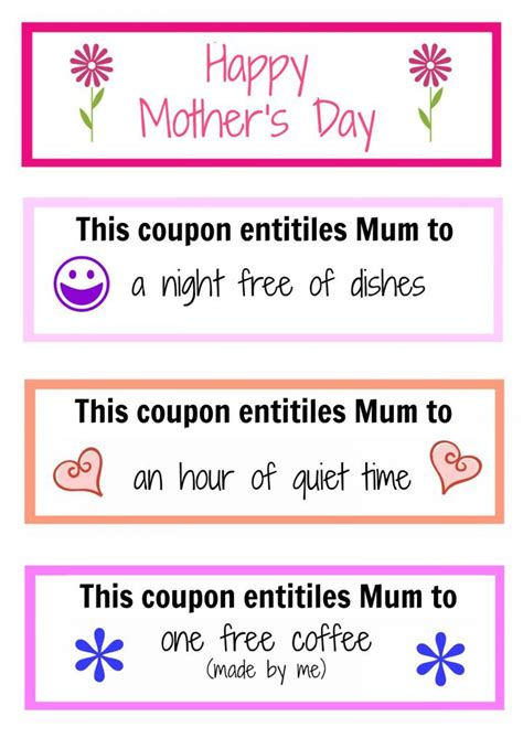 printable mother s day coupon book template mother s day coupon booklet kidspot