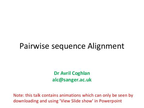 activity pattern analysis by means of sequence alignment methods pairwise sequence alignment