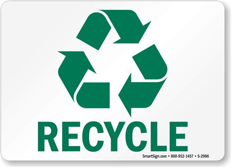 of recycle free recycling signs customize print