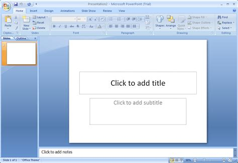 design microsoft powerpoint 2007 create a blank presentation presentation operations