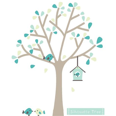 tree silhouette wall stickers silhouette tree fabric wall sticker by littleprints
