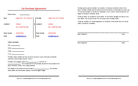 contract for car sale gse bookbinder co