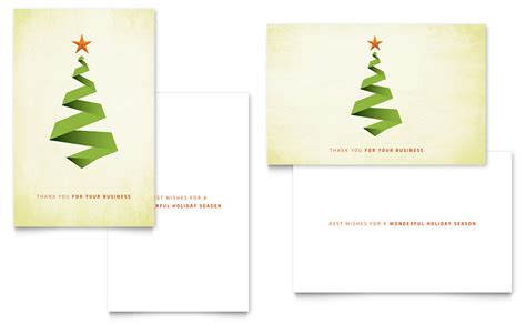 greeting card folded business cards template greeting card