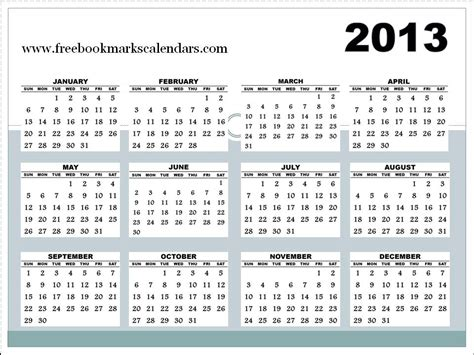 2013 calendar template 2013 yearly calendar printable calendar template 2016