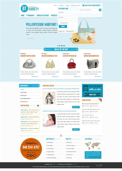 template joomla login bt variety fashion catalog joomla template by bowthemes