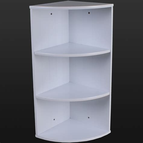 Bathroom Shelving Units Bathroom Corner Shelving Storage Unit Wooden Shelves White Wall Mountable Unit Ebay