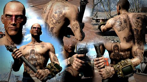 russian mafia tattoos fallout 4 nexus mods and community