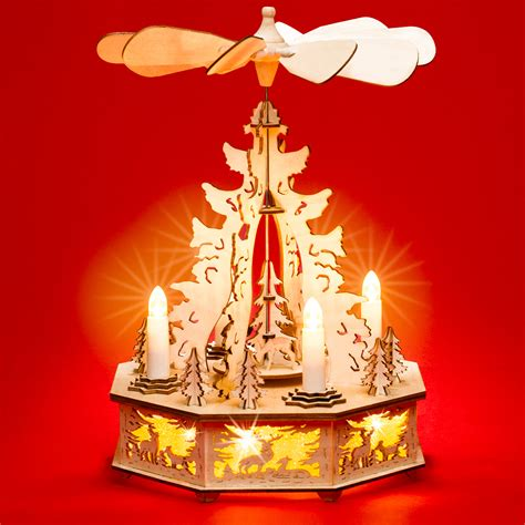 Weihnachtspyramide Elektrischer Antrieb Und Beleuchtung