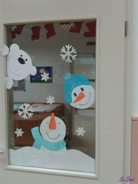 Fensterdeko Weihnachten Winter by Fensterbild Winter Schneemann Kita