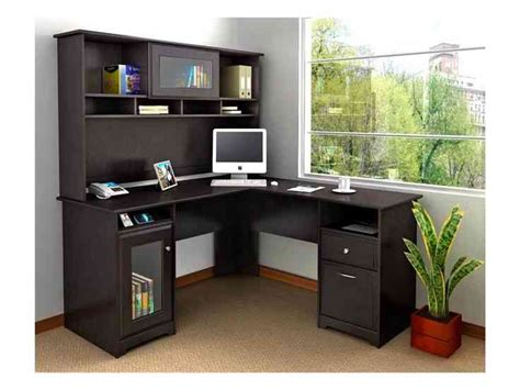 Small Black Corner Desk With Hutch Decor Ideasdecor Ideas Black Corner Desk With Hutch