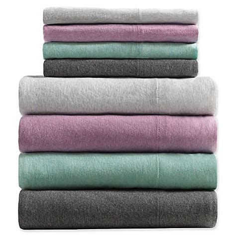 bed bath and beyond jersey sheets urban habitat heathered cotton jersey knit sheet set bed
