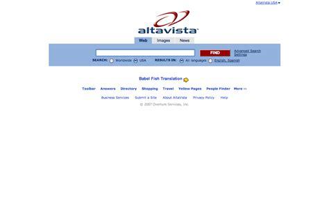 Alta Vista Search Yahoo Shuts Early Web Search Engine Altavista Pc Tech Magazine