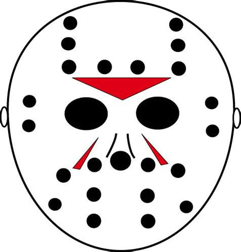 Printable Jason Voorhees Mask | jason vorhees mask printable pumpkin cutout design