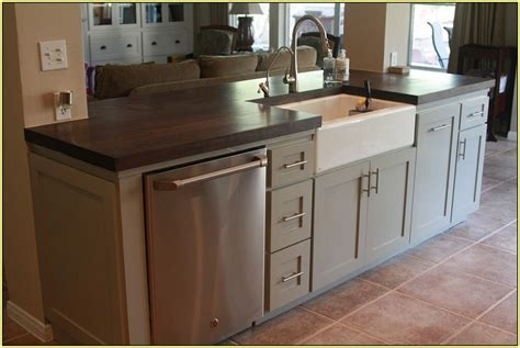 sink in island kitchen islands with sink tjihome