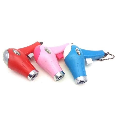 Hair Dryer Gas creative hair dryer shaped gas lighter random color