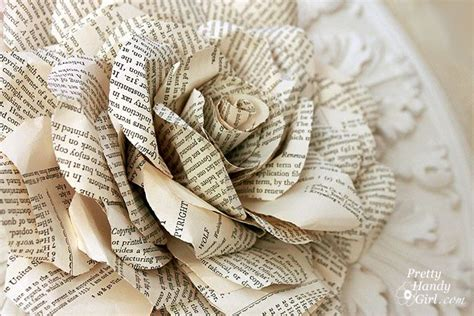 How To Make Paper Flowers Out Of Book Pages - beautiful made of book pages tutorial by