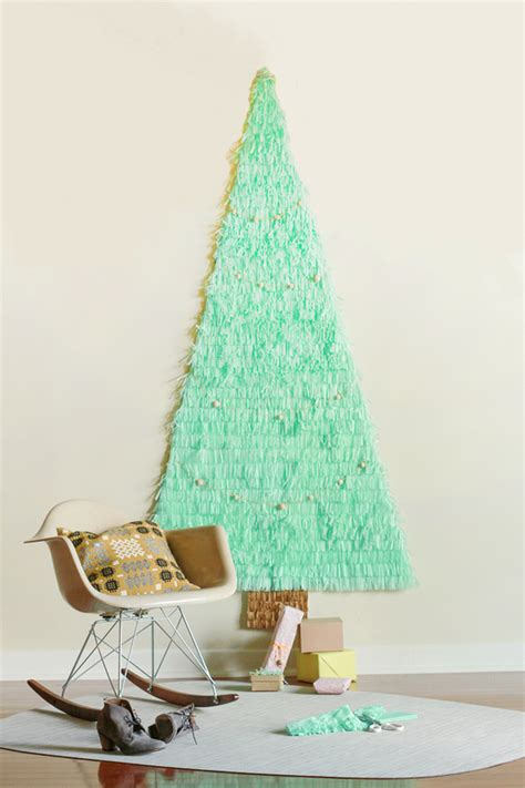 in this little corner a paper christmas tree