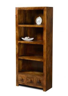 Bookcase Dakota 1 dakota mango 3 drawer bookcase