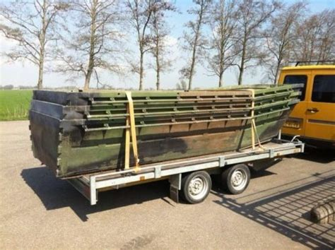 aluminium platbodem te koop 4 x legerboot ponton aluminium platbodem koppelbaar