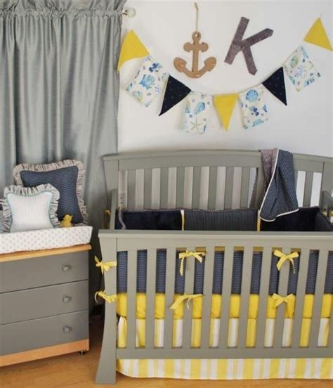navy and gray crib bedding navy yellow grey crib bedding with a stripe dust ruffle
