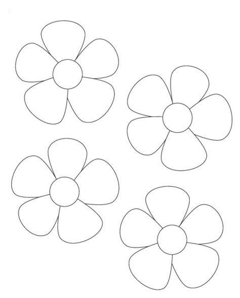 card template to send out image result for printable flower template cut out paper