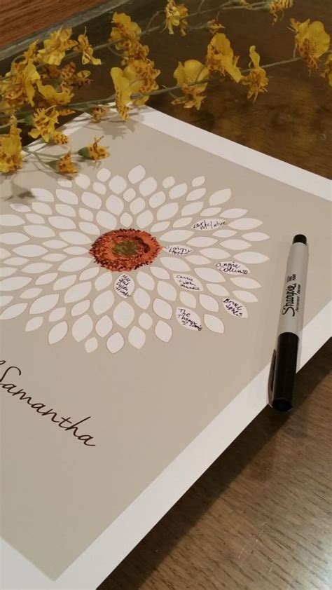 guestbook bridal shower flowers and guest books on
