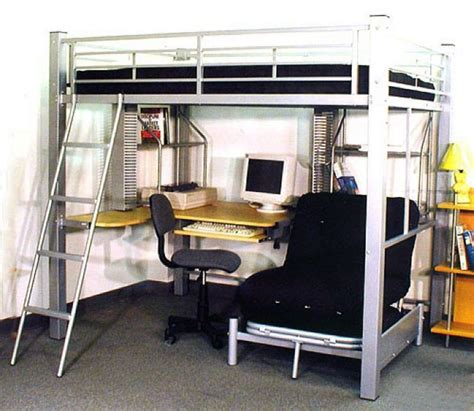 futon bunk bed with desk full loft bed with desk underneath abode full metal loft