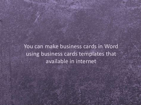 how to make business cards with word how to make personalized business cards using template in