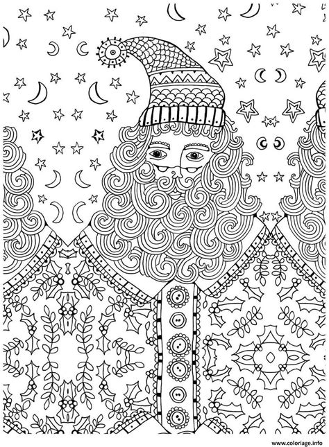 Coloriage Adulte Noel by Coloriage Pere Noel Adulte Anti Stress Jecolorie