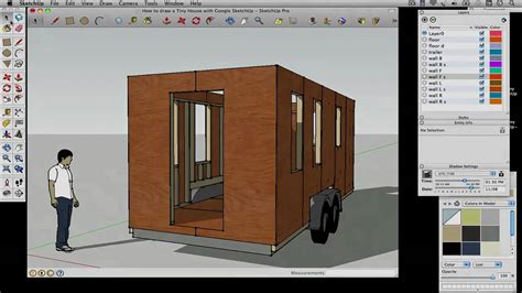 how to design a house on google sketchup how to draw a tiny house with google sketchup part 2 youtube